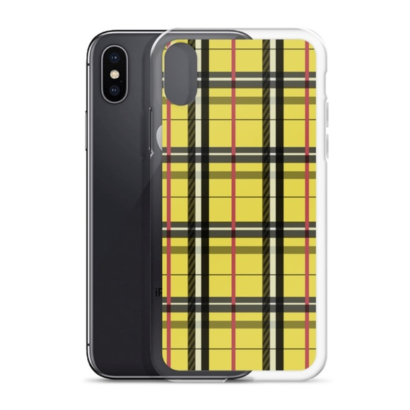 new arrivals 46667 46e44 NEW iPhone X Yellow Plaid Case